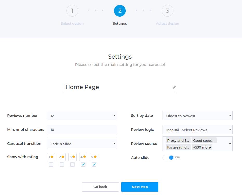 How to Setup And Use Customer Reviews Carousel