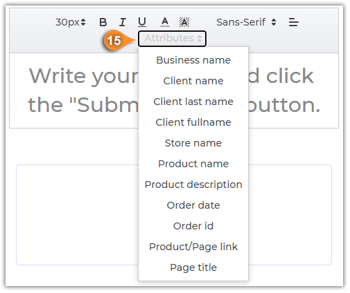 How to create an email template for automated review request