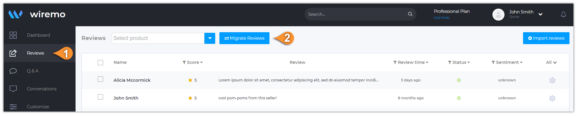 How to migrate reviews