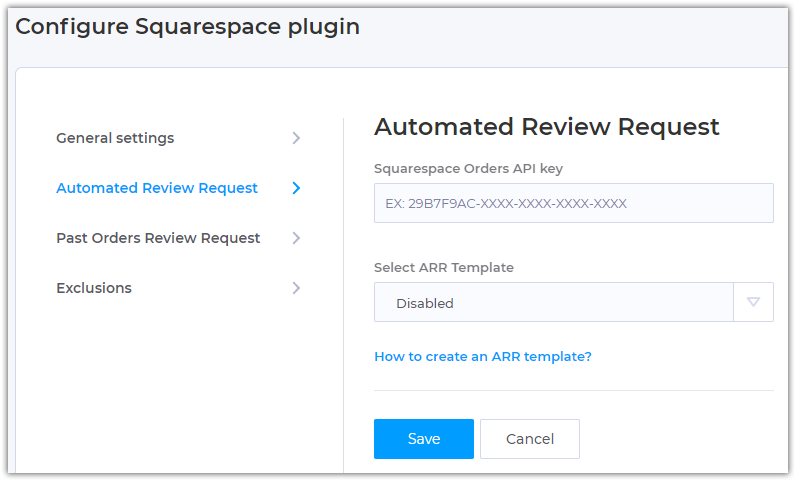 How to setup Automated Review Request in Squarespace plugin