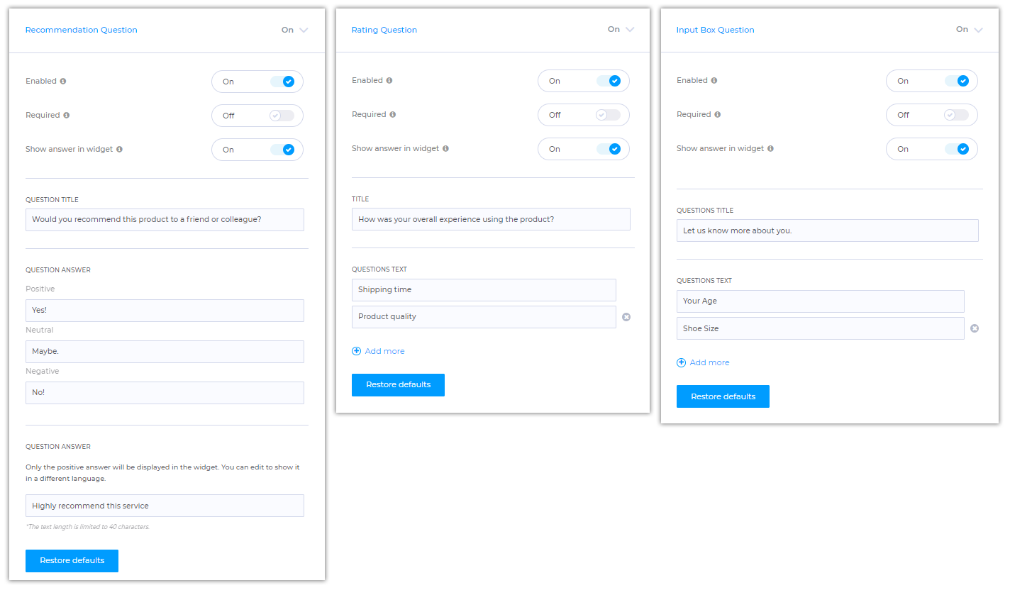 How to Customize Wiremo Customer Review Widget