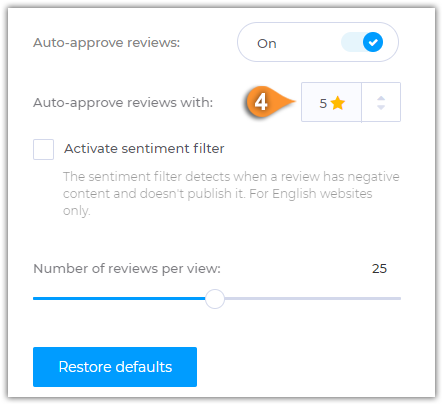How to Accept Reviews Automatically for Specific Ratings