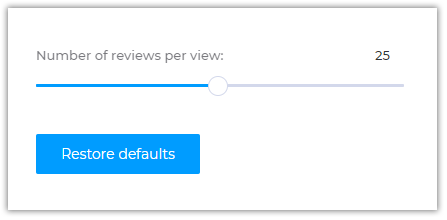How to Change The Number of Reviews Per a Pageview